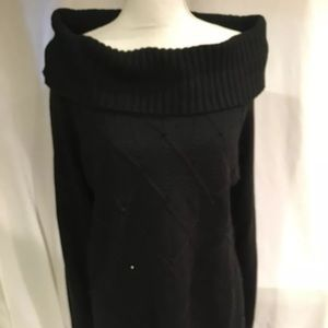 Jones New York SZ XL Sweater Black  Rhinestones